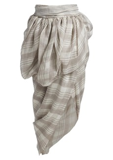Altuzarra Zalie Plaid Gathered Asymmetric Skirt