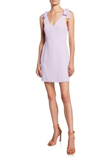 Amanda Uprichard Allora Shoulder-Tie Mini Dress