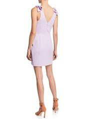 Amanda Uprichard Allora Shoulder-Tie Mini Dress
