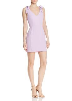 Amanda Uprichard Allora V-Neck Mini Dress