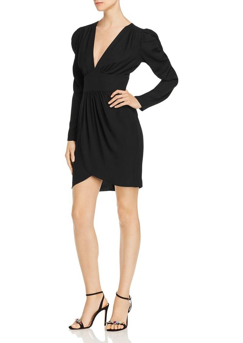 Amanda Uprichard Analeigh Shirred Faux-Wrap Dress