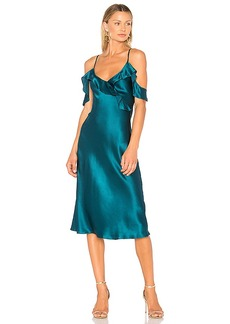 Amanda Uprichard Anika Midi Dress in Turquoise. - size M (also in S,XS)