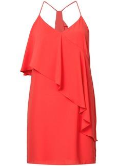 Amanda Uprichard asymmetrical ruffle top dress - Red