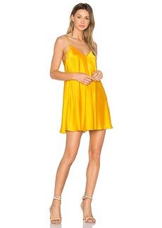 Amanda Uprichard Deep V Slip Dress in Yellow. - size XS (also in L)