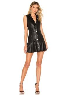 Amanda Uprichard Dolce Faux Leather Mini Dress