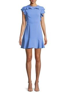 Amanda Uprichard Emery Sleeveless Flounce Mini Dress