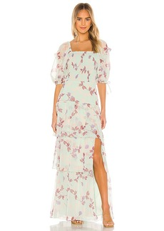 Amanda Uprichard Florentina Maxi Dress