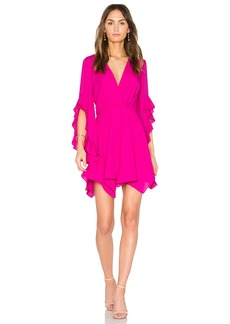 Amanda Uprichard Flutter Sleeve Dress