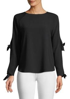Amanda Uprichard Ingrid Cutout-Sleeve Blouse