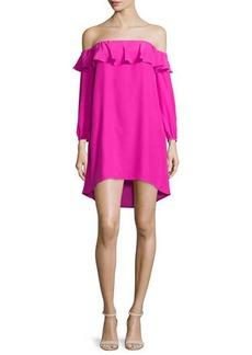 Amanda Uprichard Joanna Off-the-Shoulder Crepe Dress