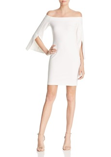 Amanda Uprichard Mills Off-the-Shoulder Sheath Dress