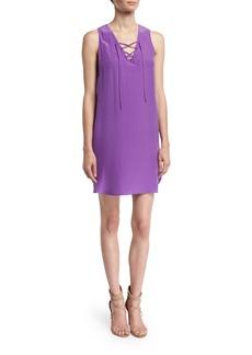 Amanda Uprichard Pace Lace-Up Shift Dress