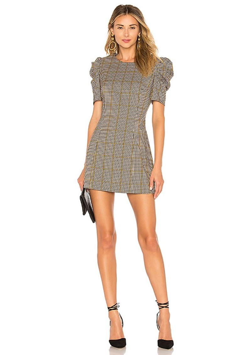 Amanda Uprichard Puff Sleeve Mini Dress