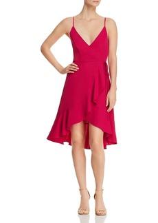 Amanda Uprichard Rose Ruffled Wrap Dress
