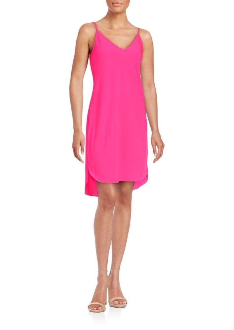 Amanda Uprichard Sleeveless Solid Hi-Lo Dress