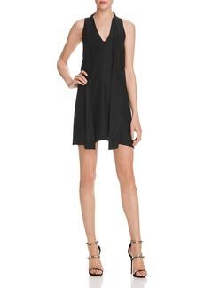 Amanda Uprichard Tie Neck Garland Silk Dress - 100% Exclusive
