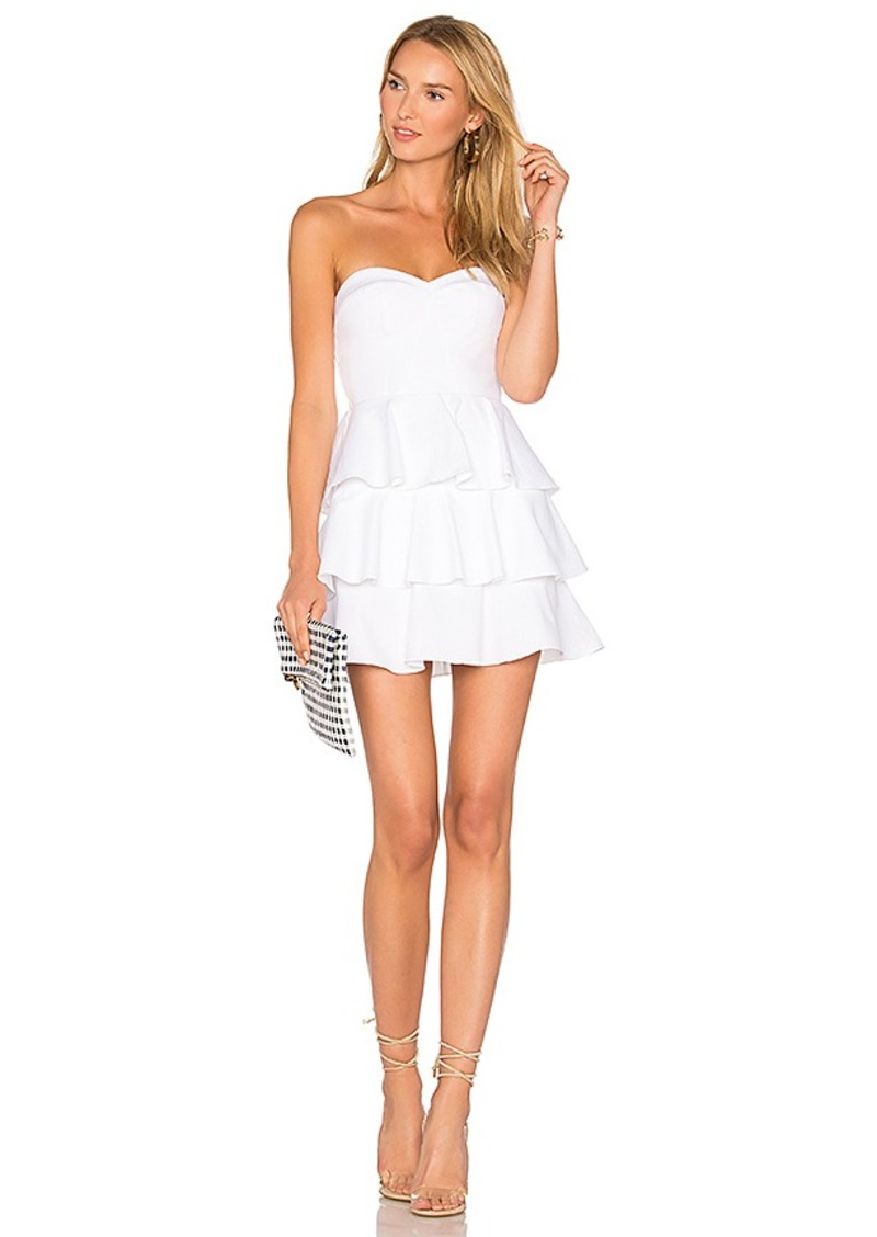 Amanda Uprichard Tiered Ruffle Dress