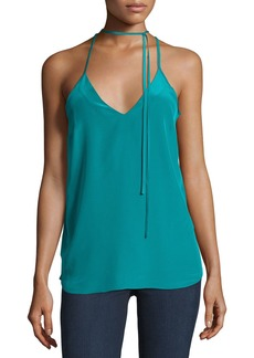 Amanda Uprichard V-Neck Choker Tank Top