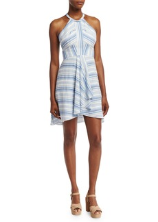 Amanda Uprichard Vineyard Striped Cotton Mini Dress