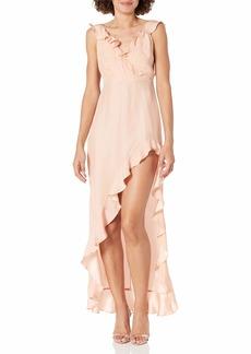 Amanda Uprichard Women's Chandelier Sleeveless HI-LO Maxi Dress