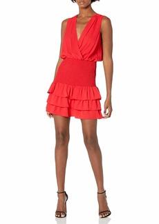 Amanda Uprichard Women's Chantal Sleeveless Smocked Mini Dress