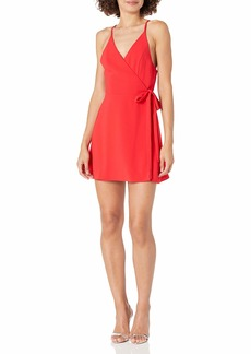 Amanda Uprichard Women's Clarita Sleeveless Mini WRAP Dress