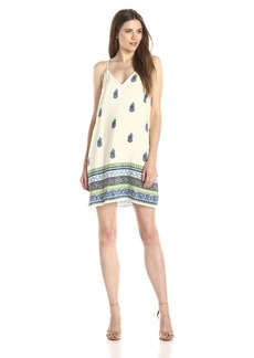 Amanda Uprichard Women's Cricket Boho Print Slip Dress Blue