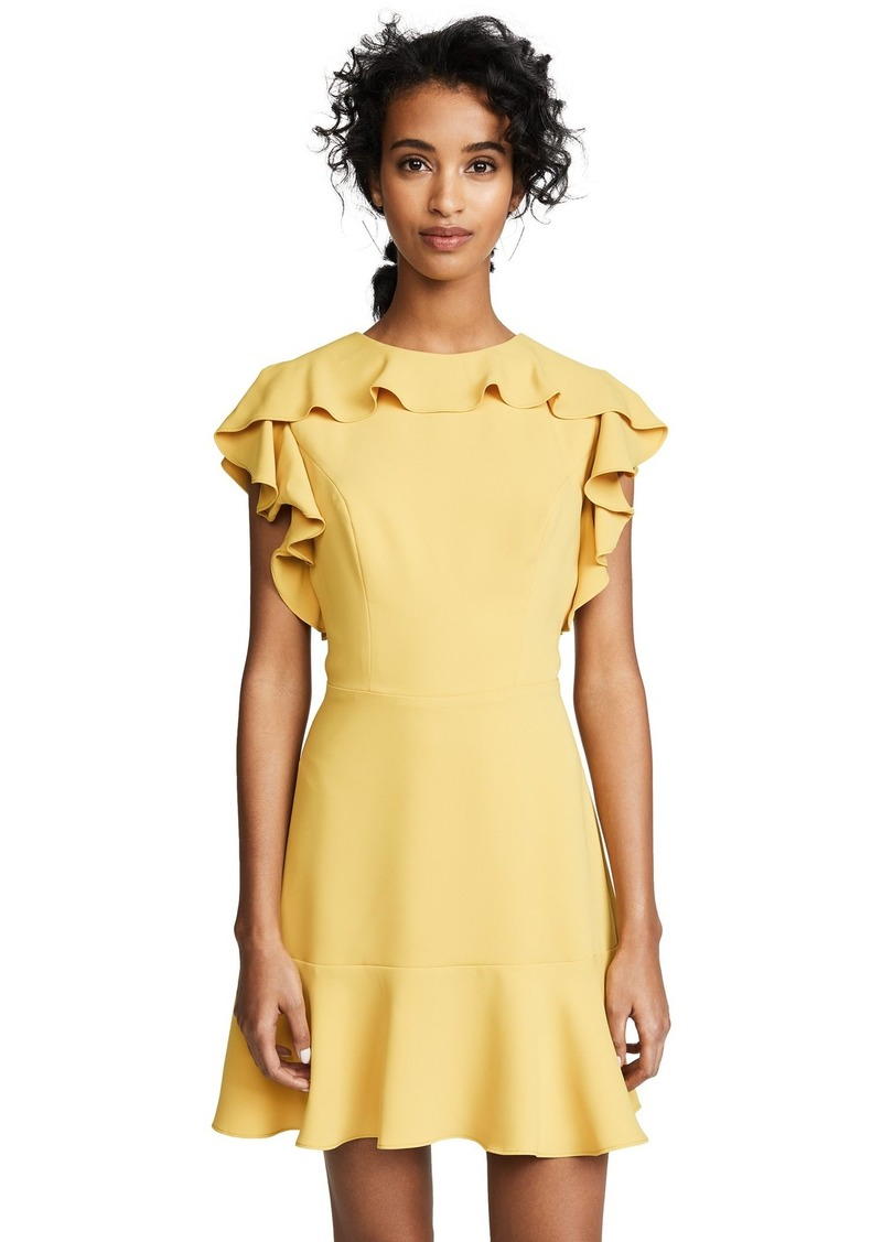 Amanda Uprichard Women's Emery Dress with Ruffle Neckline