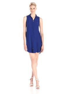 Amanda Uprichard Women's Logan Sleeveless Silk Shirt Dress