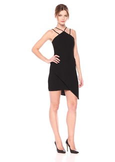 Amanda Uprichard Women's Odean Dress with Halter Neck and aymmetrical Hem