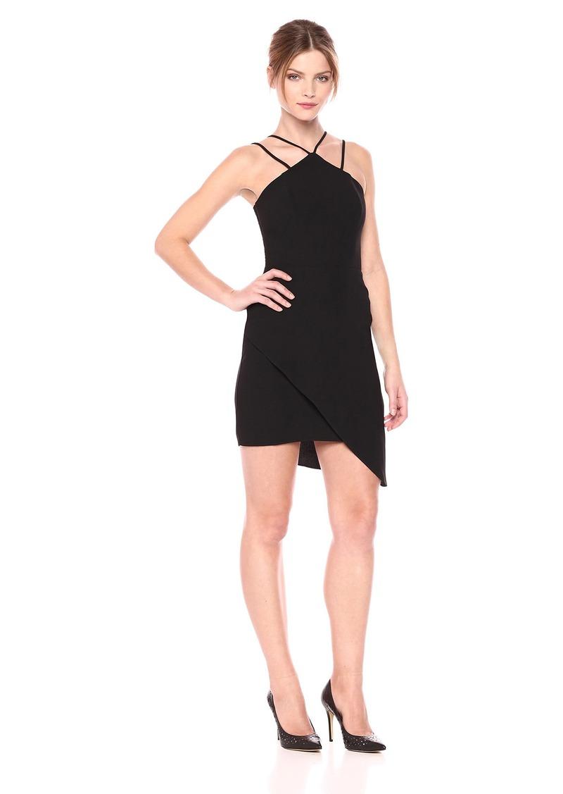 Amanda Uprichard Women's Odean Dress with Halter Neck and aymmetrical Hem
