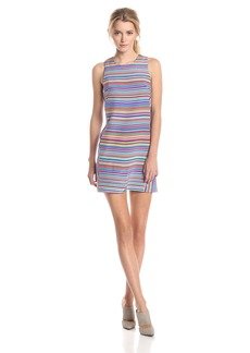 Amanda Uprichard Women's Silk Prism Stripe Shift Dress Print