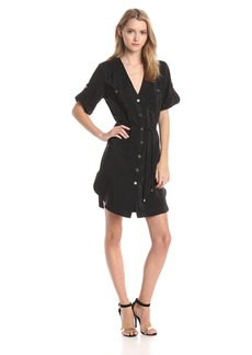 Amanda Uprichard Women's Silk Tiewaist Pocket Dress