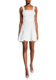 Amanda Uprichard Annalise Sleeveless Gingham Short Dress