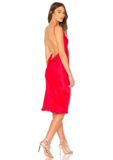 Amanda Uprichard Charmeuse Cowl Midi Slip Dress
