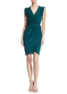 Amanda Uprichard Emmett Silk Sleeveless Wrap Short Dress