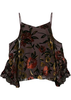 Amanda Uprichard floral cold shoulder blouse