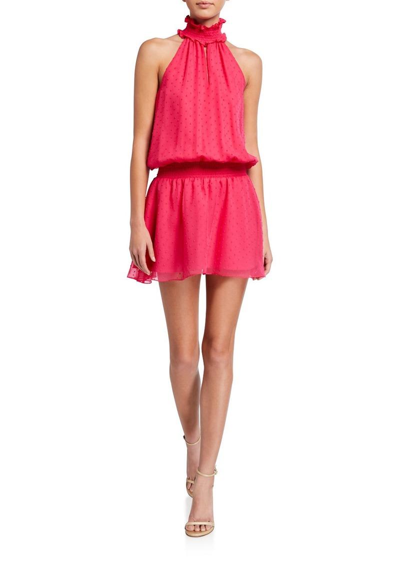 Amanda Uprichard Kimmie Sleeveless High-Neck Mini Dress