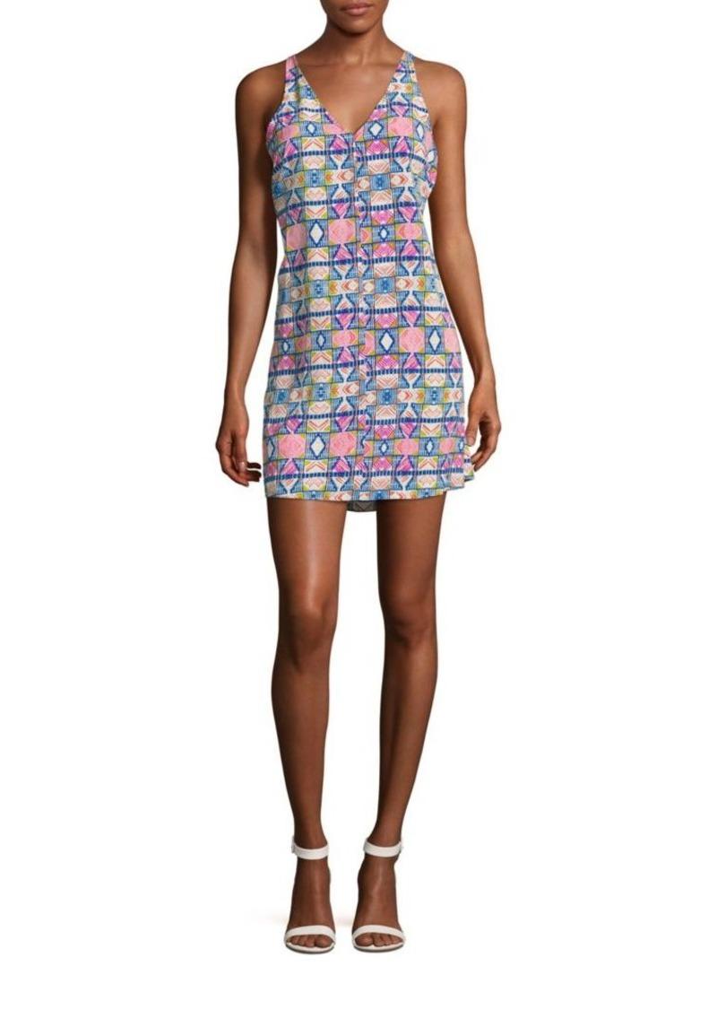 Amanda Uprichard Malibu Printed Racerback Dress