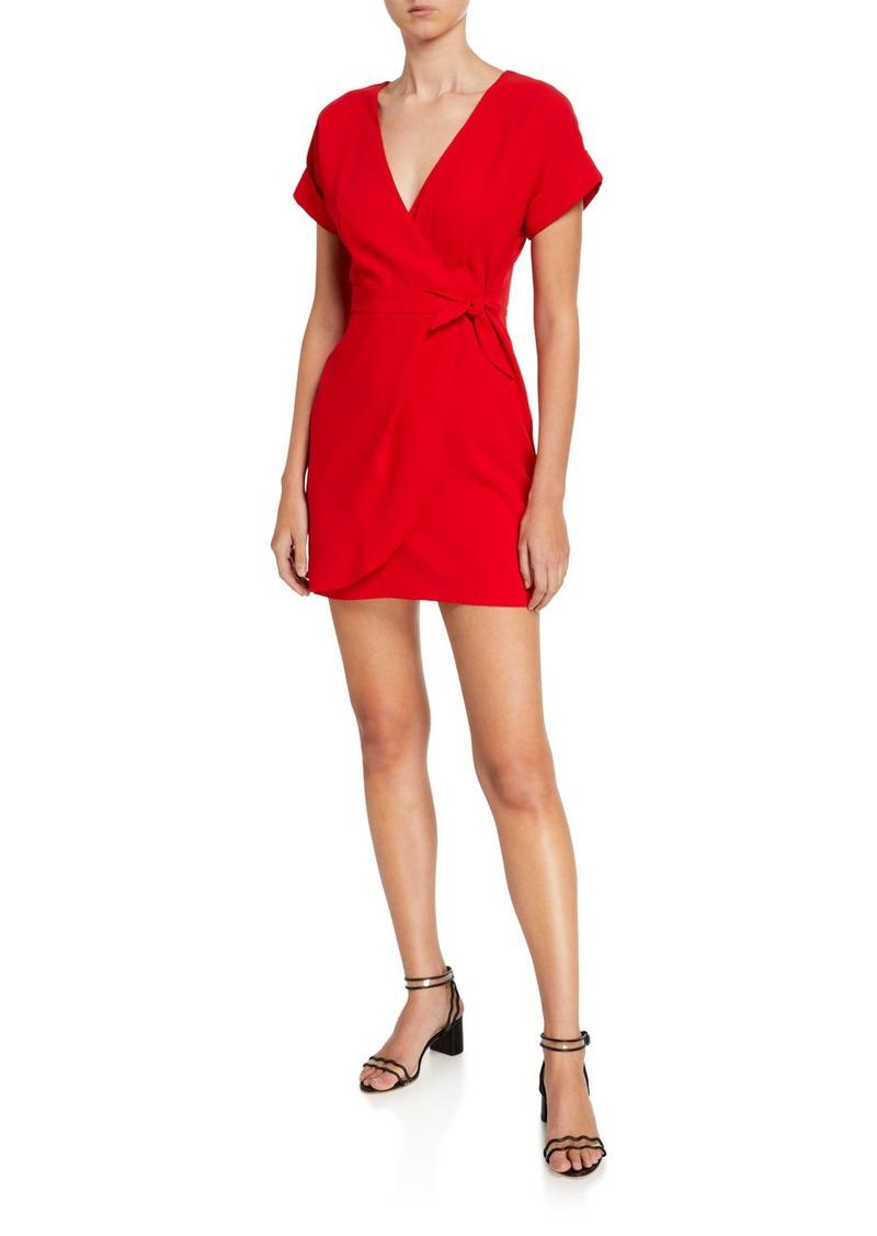 Amanda Uprichard Manolo Faux-Wrap Short Dress