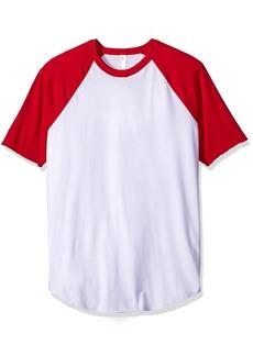 American Apparel Men's 50/50 Raglan T-Shirt  arge