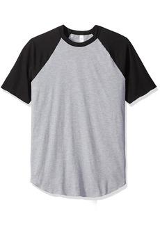 American Apparel Men's 50/50 Raglan T-Shirt  X-Large