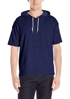 American Apparel Men's French Terry Short Sleeve Kangaroo Pullover Hoodie