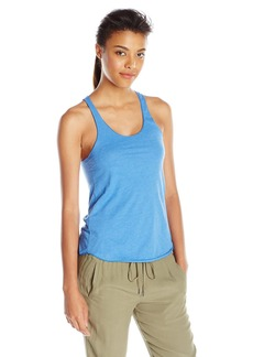 American Apparel Women's 50/50 Poly Cotton Racerback Tank Top Heather ake Blue arge