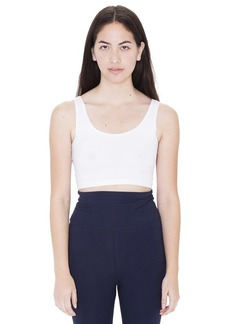 American Apparel Women's Cotton Spandex Crop Tank  edium