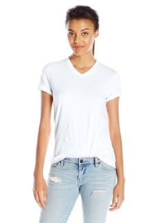 American Apparel Women's Fine Jersey Classic V-Neck Top  arge