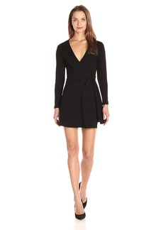 American Apparel Women's Margot Long Sleeve Wrap Dress