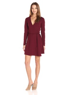 American Apparel Women's Margot Long Sleeve Wrap Dress