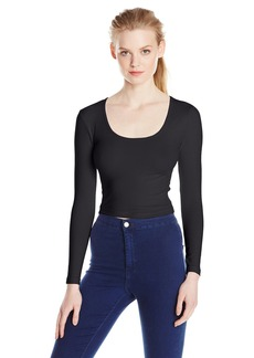 American Apparel Women's Reed Long leeve Crop Top  mall