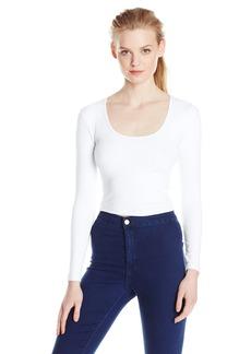 American Apparel Women's Reed Long Sleeve Crop Top